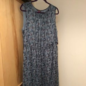 NWT Vince Camuto sleeveless hi/low floral dress 3X